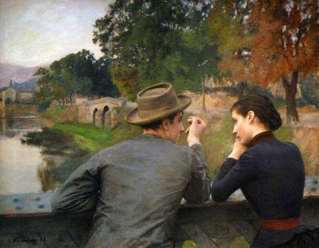 """Émile Friant, """"Gli amanti"""" (1888)"""