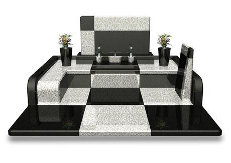デザイナーズ墓石MemoireMaChereクロワ