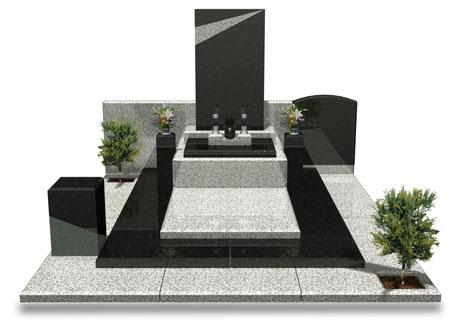 デザイナーズ墓石MemoireMaChereジャポネモデルノ