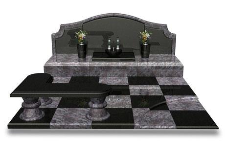 デザイナーズ墓石MemoireMaChereラ・コリーヌⅡ