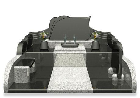デザイナーズ墓石MemoireMaChereエイルⅡ