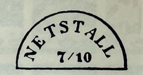 Halbkreisstempel bahnamtlich im Gebrauch ab etwa 1860