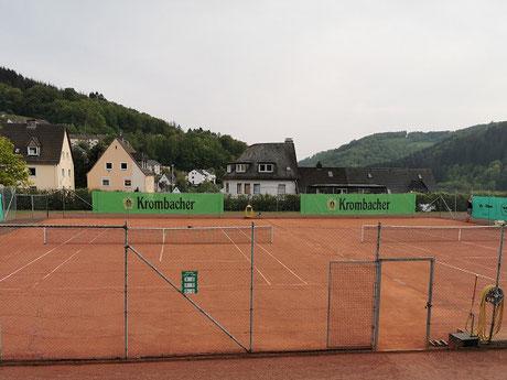 Es ist angerichtet, die Tennisanlage des TV Städtisch Rahmede e.V. 1889 Altena