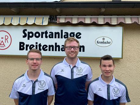 "Die ""jungen"" Wilden vom Galgenkopf: v. l:Daniel Kockerbeck; Patrick Demsa; MF Felix Krenz"