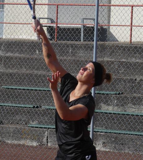noch im Rennen um den Titel - Yasmin Patzak, die Spitzenspielerin der Badmintonabteilung