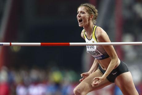Imke Onnen, Hochsprung-Finalteilnehmerin bei der WM 2019 in Doha, geht in Wuppertal an den Start (Foto: imago images/Axel Kohring)