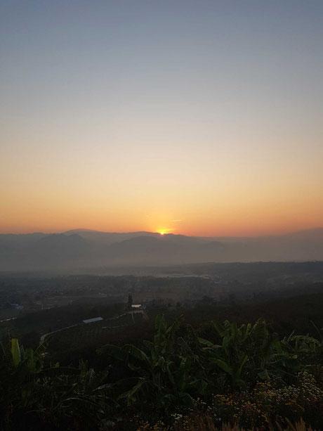 Sonnenaufgang in Pai