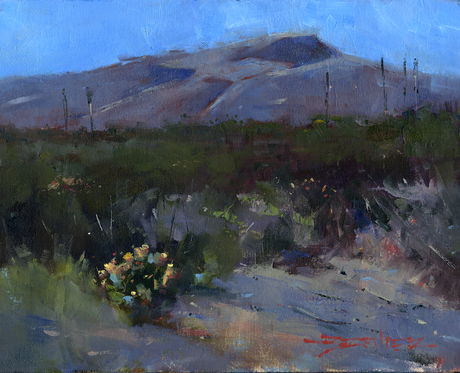 Paint Gap Hills - 8x10-inch oil on canvas panel.