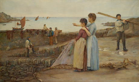 Henry Meynell Rheam  'On the Lookout, Polperro' (Lytham St Annes Town Council)