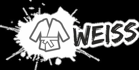 Fachsportschule - Logo Klecks weiss Gürtel - Beginn als Schüler