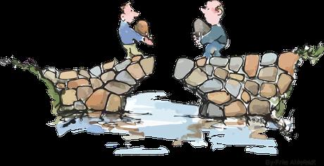 Brücken bauen, Streitschlichtung, Konfliktlösung, Konliktmanagement, Teamkonflikt, Corazza-Mediation