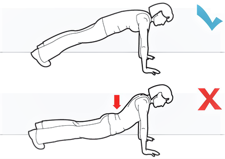 Doing push-ups correctly