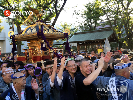 亀戸香取神社例大祭, 2016年8月7日, 宮元, こんにゃく神輿