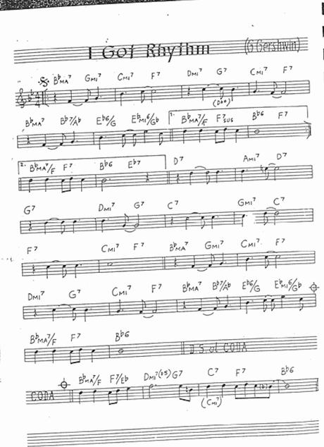 メロディ譜/リードーシートの例(画像はパブリックドメイン)