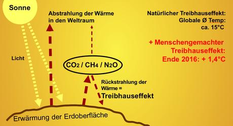 Grafik Treibhauseffekt © Werner Glatzle
