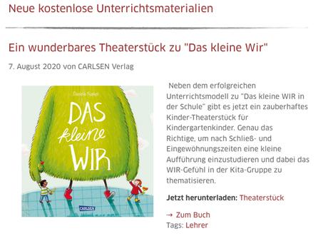 Theaterstück: Das kleine WIR