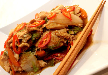 Chinesisches Fleisch in Austernsauce