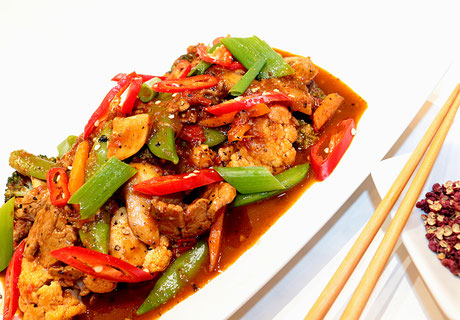 Schweinefleisch Szechuan Rezept