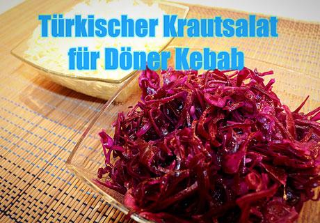 Türkischer Krautsalat für Döner Kebab
