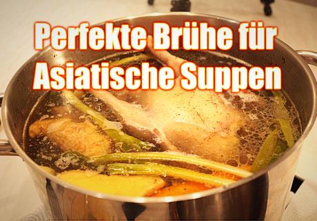 Brühe für Asiatische Suppen