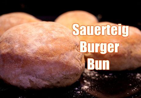 Sauerteig Burger Bun