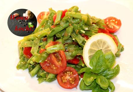 Thailändischer Salat Bohnen Som Tam