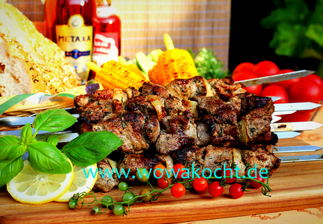 Russische Schaschlik in Mayonnaise Marinade