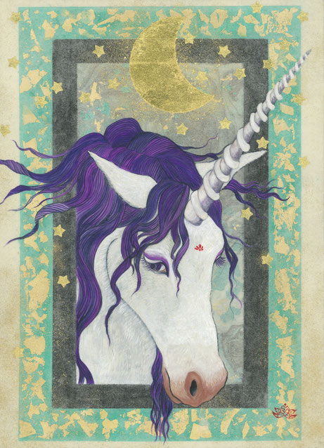 「Luna Power」 F4号 日本画
