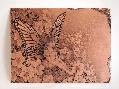 「わすれないうた」 インク/銅 150x200mm