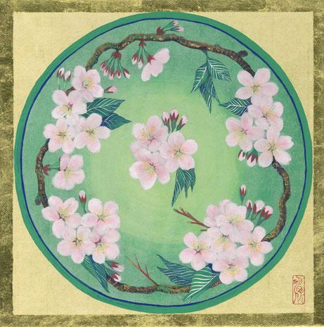 「桜の和」 S3号 日本画