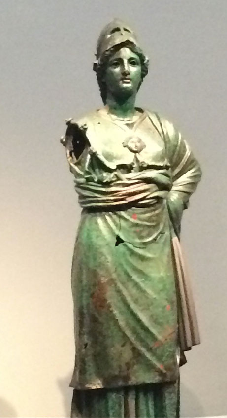 Bronze and copper statue of Athena:  Innovations From a Distant Time