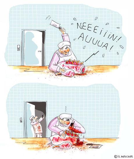 "Cartoon ""Schreckspeck"""
