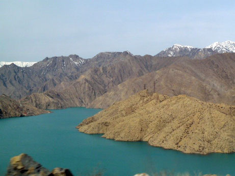 Naryn downstream from Toktogul, Kyrgyzstan