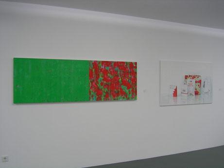 Sabine Christmann, Ausstellungsansicht, Galerie von Braunbehrens, München, 2013
