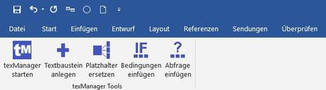 Word Toolbar