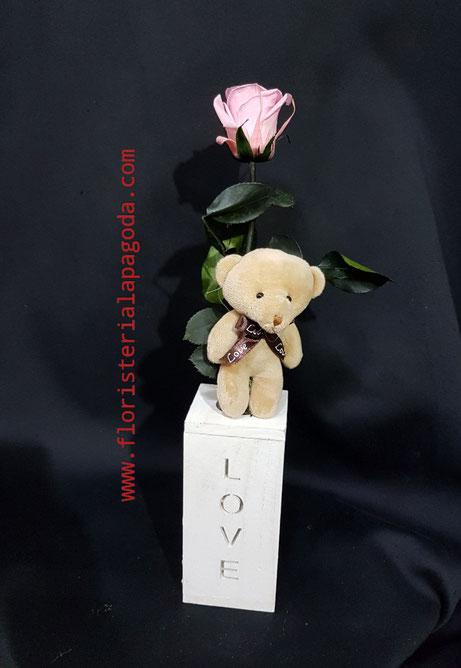 Rosa eterna rosada. ref rosas eternas 05