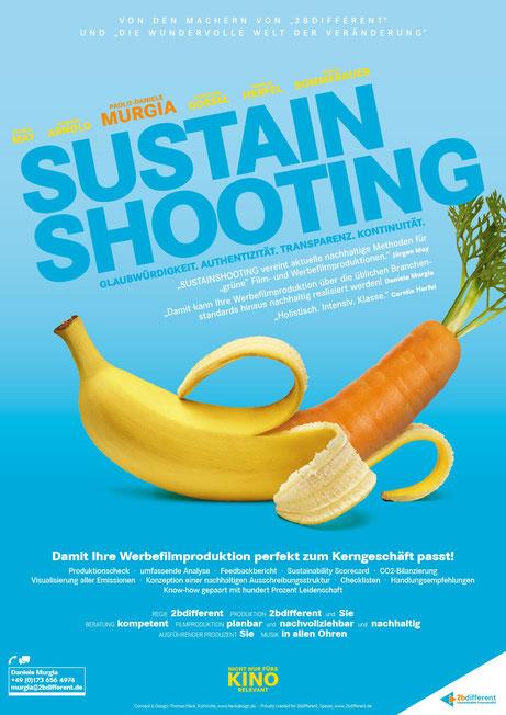 2bdifferent - Sustain Shooting - KeyVisual/Werbe-Filmplakat für nachhaltige Filmproduktionen