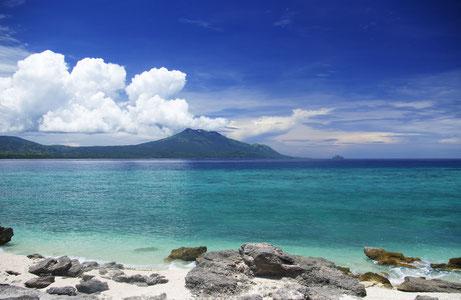 Blick von den Tres Reyes auf Marinduque
