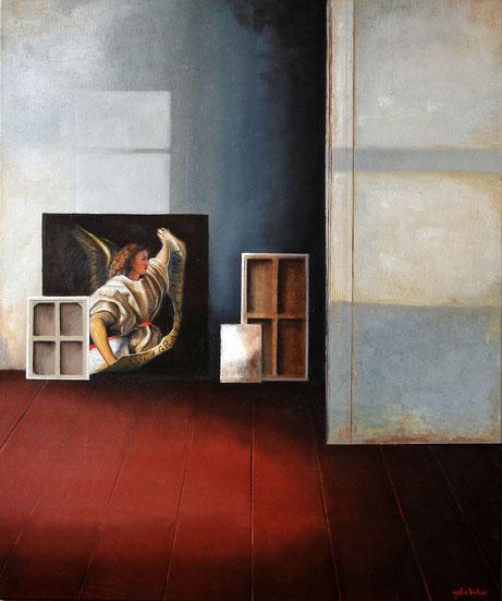 De Geest vertoeft nergens.    Olieverf op canvas. 100cmx120cm .Prijs 750 euro inc btw