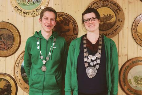 Jugendkönig Simon Scharf mit Schützenkönigin Julia Fischer