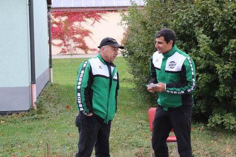 Unsere Sommerbiathlon-Trainer Christoph Wuzel und Matthias Raab