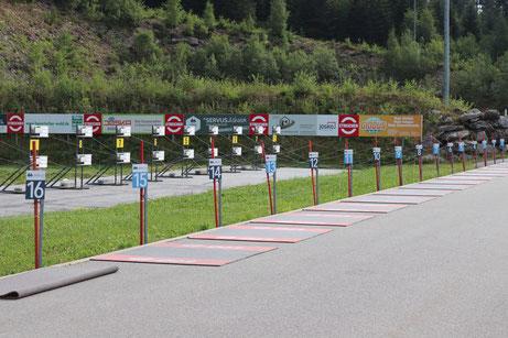 Schießstand Bayrisch Eisenstein - Biathlon Stadion am Arber - Foto Simon Scharf - Sommerbiathlon Schützen SG Wörnitz Schützengilde