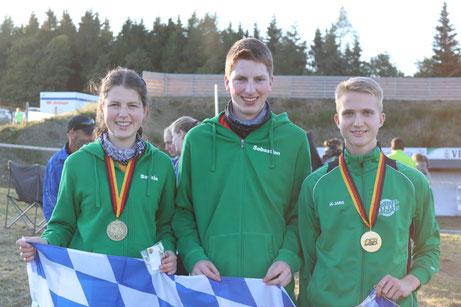 Gold und Bronze für die Sommerbiathlon Staffelläufer der SG Wörnitz