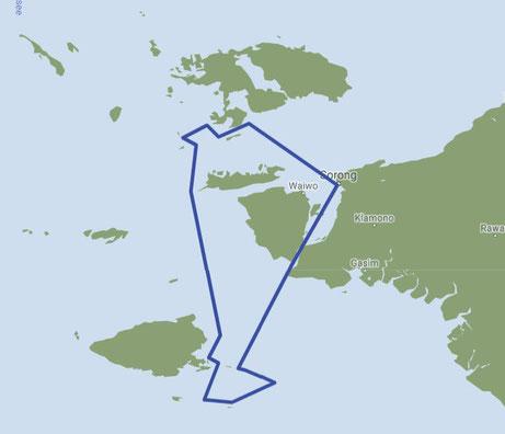 Raja Ampat, Indonesia dive map