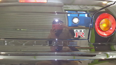 BNR34のトランクの傷除去 埼玉所沢の車磨き専門店 川越
