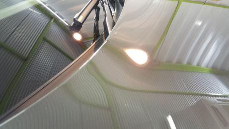 V60T5のシミ除去 車のウォータースポット改善 濃色車の下地処理
