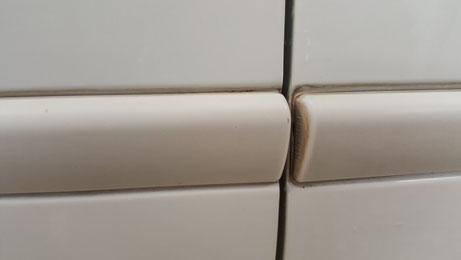 トゥインゴR.S.ドアモールの黒ずみ・水垢汚れ