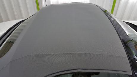 洗浄後の幌・シルバーのソフトトップ NDロードスター