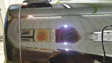 スカイラインGT‐R34の研磨・コーティング リアフェンダーの傷除去 白ボケ・色褪せ改善 埼玉の車磨き専門店