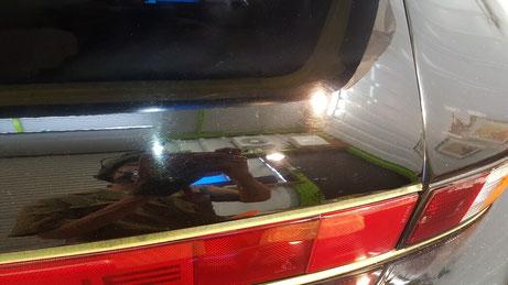 930ターボ エンジンフードの傷 リアウイングの傷